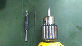 A countersink bit, a bit to predrill, and a robertson bit for the screws.